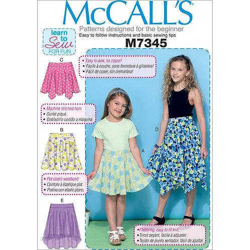 McCall`s M7345 Mädchenrock