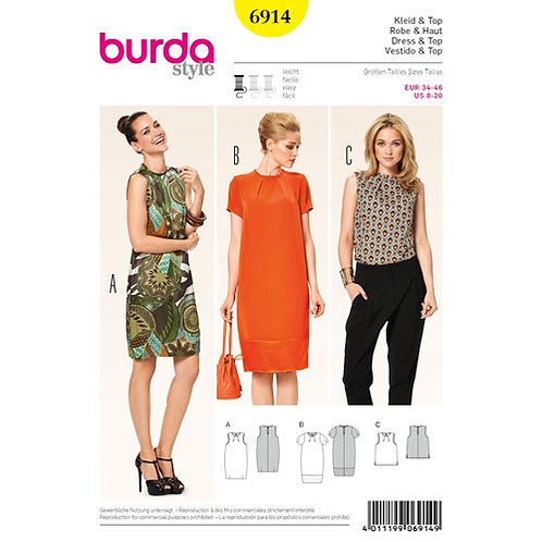 Burda 6914 Ballonkleid & Top