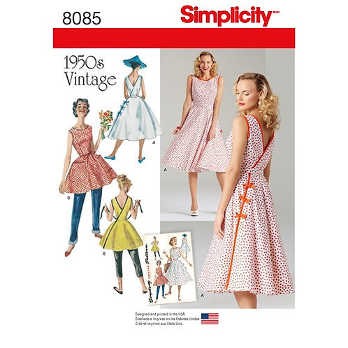 Simplicity 8085 Vintage - Wickelkleid