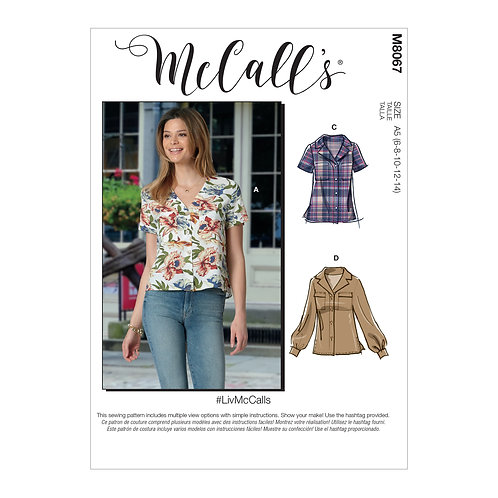 McCall`s M8067 Bluse