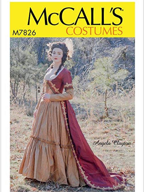 McCall`s M7826 Historisches Kleid