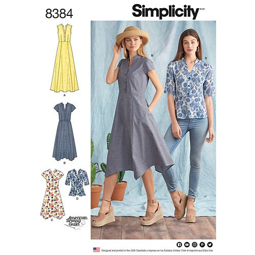 Simplicity 8384 Hemdkleid & Bluse