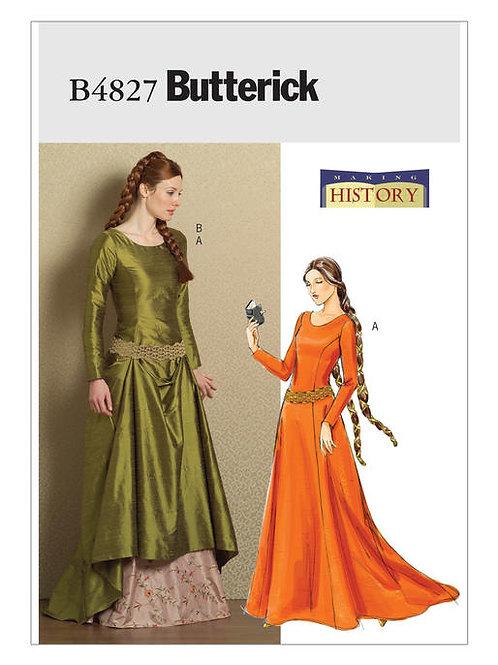 Butterick B4827 mittelalterliches Kleid
