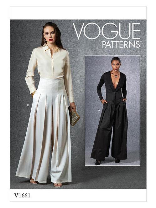 Vogue V1661 weite Hose mit Falten
