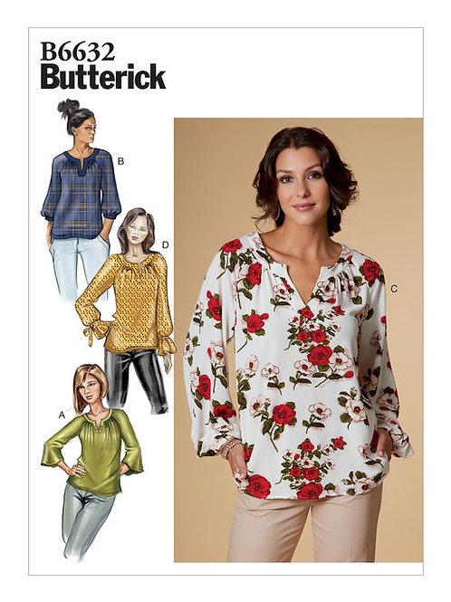 Butterick B6632 Bluse mit Raglanärmel