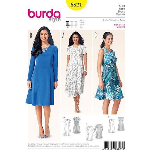Burda 6821 leichtes Sommerkleid