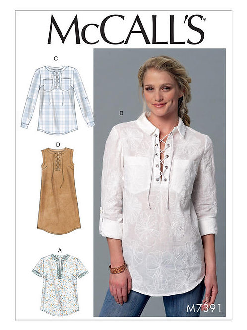 McCall's 7391 bequeme Bluse & Kleid