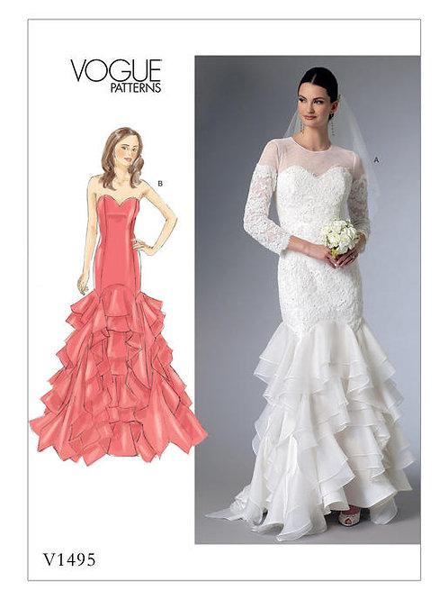 Vogue V1495 Hochzeitskleid