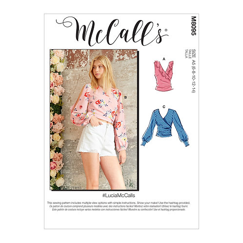 McCall's 8095 Bluse in Wickeloptik