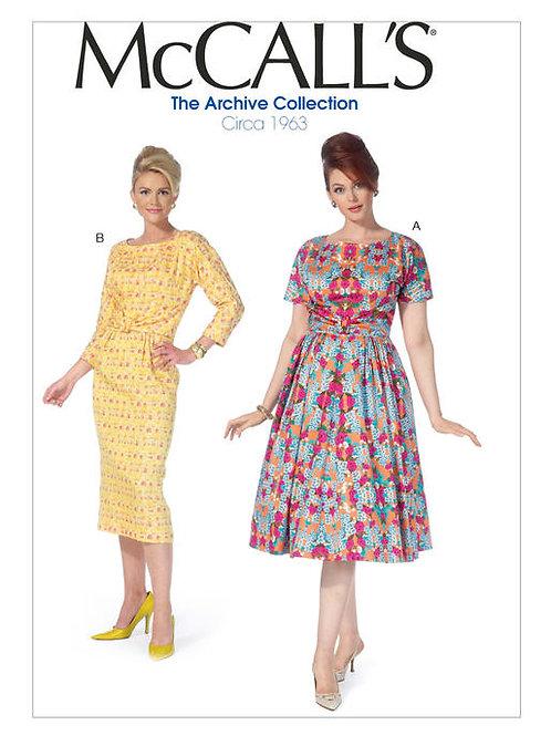 McCall's 7086 Vintage Abendkleid von ca. 1963