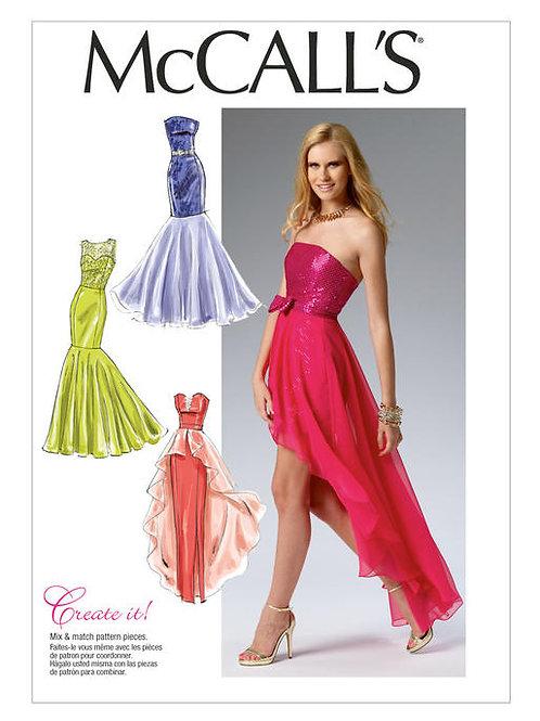 McCall's 6838 ärmellose Abendkleider mit Varianten
