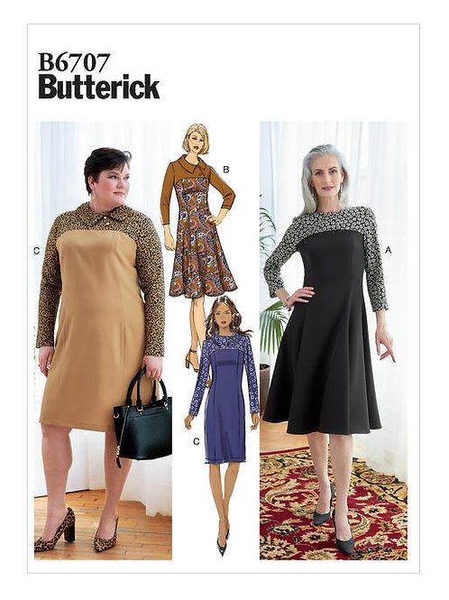 Butterick B6707 tailliertes Kleid