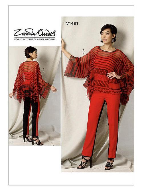 Vogue V1491 Tunika & Hose by Zandra Rhodes
