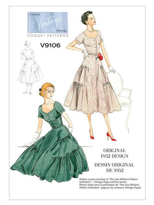 Vogue V9106 Abendkleid von 1952