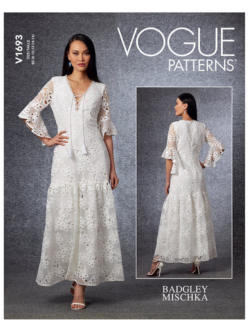 Vogue V1693 Rüschen-Kleid