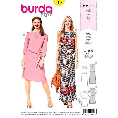 Burda 6413 sommerliches Kleid