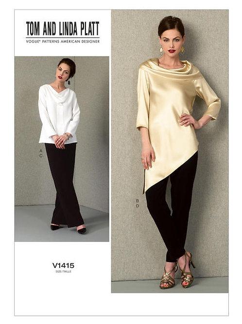 Vogue V1415 asymmetrische Tunika & Hose by Marcy Tilton
