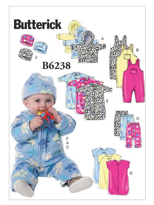 Butterick B6238 Kleinkindausstattung