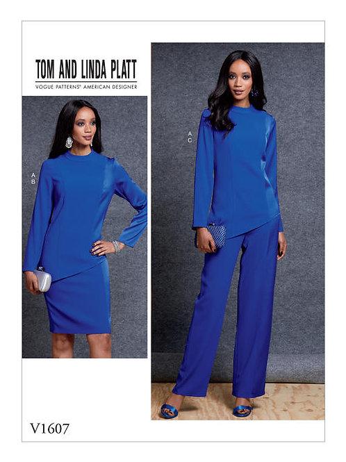 Vogue V1607 Rock, Hose & Shirt by Tomand Linda Platt
