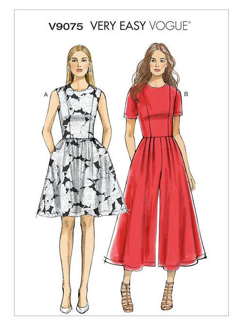 Vogue V9075 Kleid & Overall