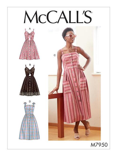 McCall's 7950 leichtes Sommerkleid mit Varianten