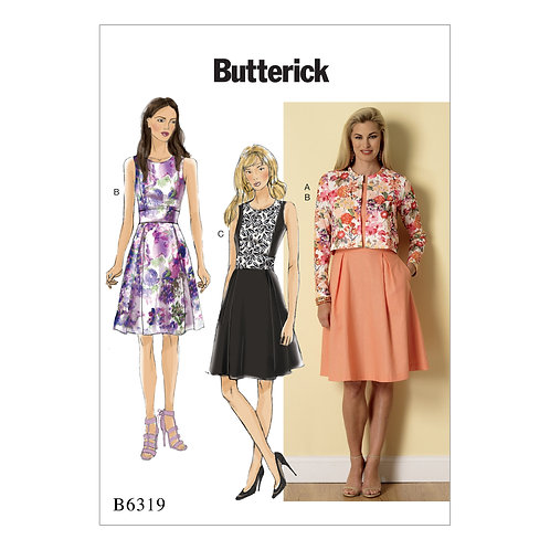 Butterick B6319 ärmelloses Kleid mit Jacke
