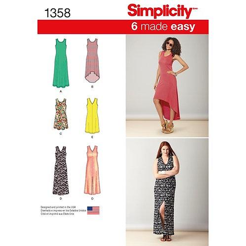 Simplicity 1358 Jerseykleid