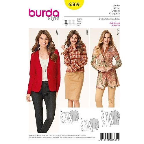 Burda 6569 klassische Jacke