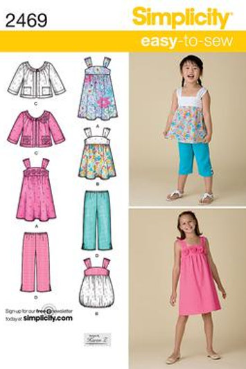Simplicity 2469 Kleid, Hose & Jacke
