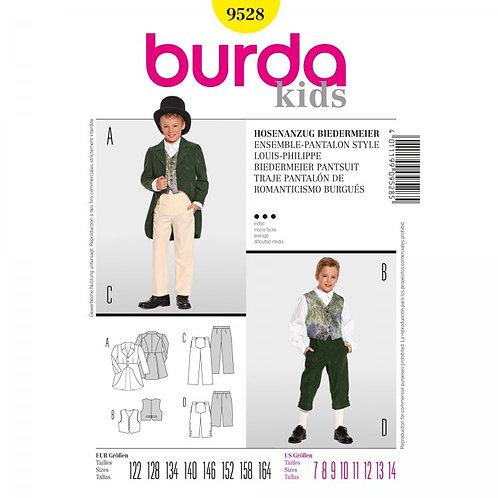 Burda 9528 Hosenanzug Biedermeier