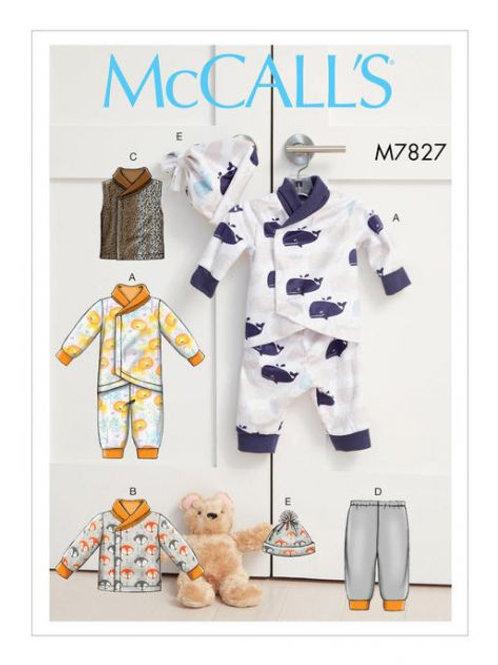 McCall`s M7827 Baby-Kombi
