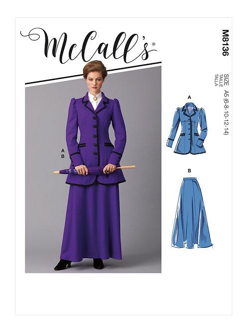 McCall's8136 Historische Damenkleidung
