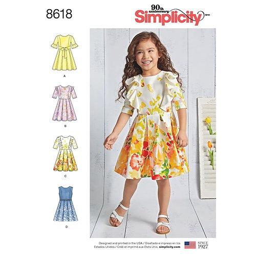 Simplicity 8618 Mädchenkleid