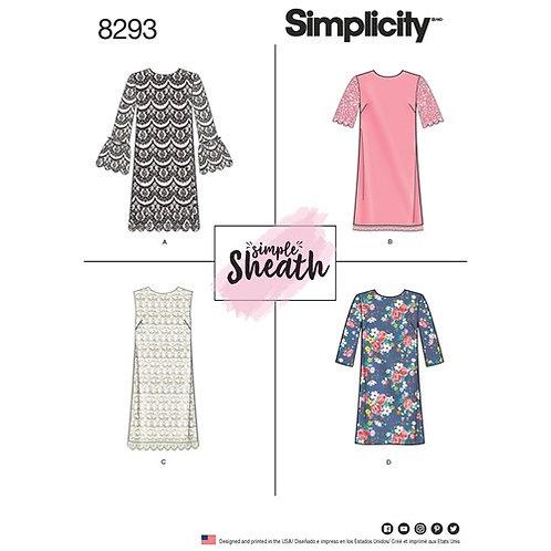 Simplicity 8293 lockeres Kleid