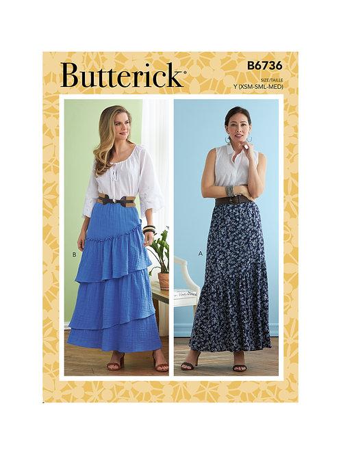 Butterick B6736 langer Rock