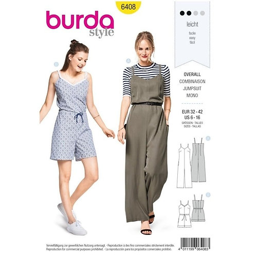 Burda 6408 Overall