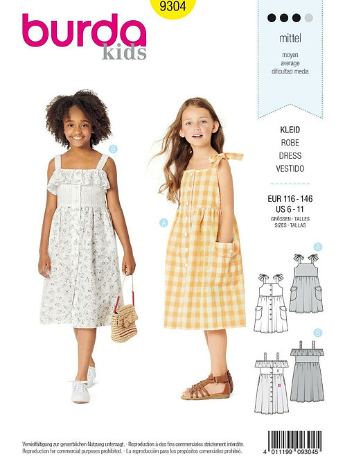 Burda 9304 Kinder - Kleid