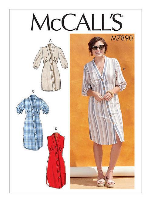 McCall'S 7890 Hemdblusenkleid & Tunika