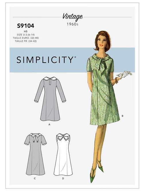 Simplicity 9104 Retrokleid
