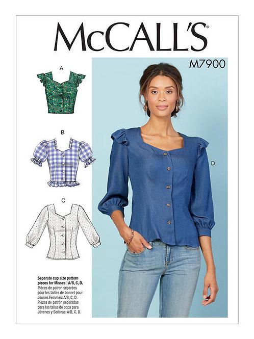 McCall's 7900 Bluse im Landhausstil