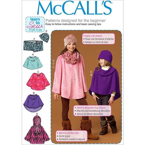 McCall`s M7012 Mädchencape mit Mütze