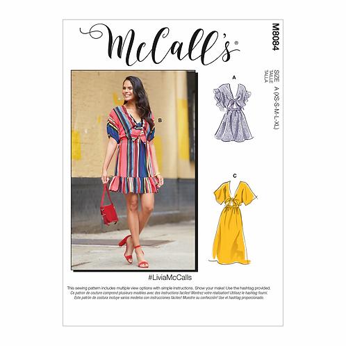McCall's 8084 Kleid mit Raglanärmel