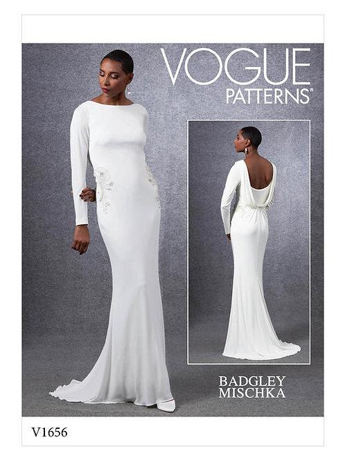 Vogue V1656 enges Abendkleid by Badgley Mischka