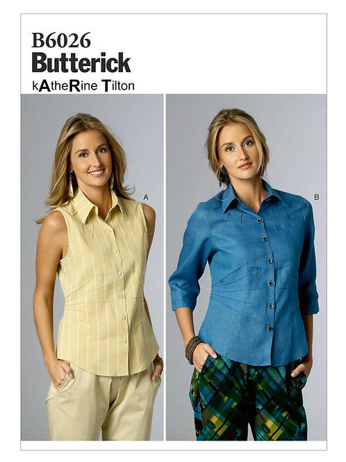 Butterick B6026 Designer - Bluse by Katherine Tilton