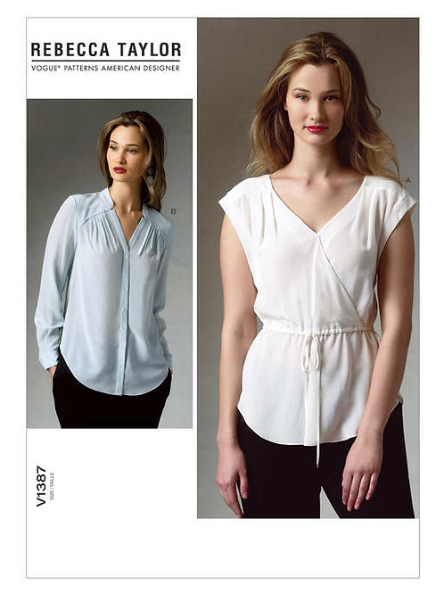 Vogue V1387 legere Bluse by Rebecca Taylor
