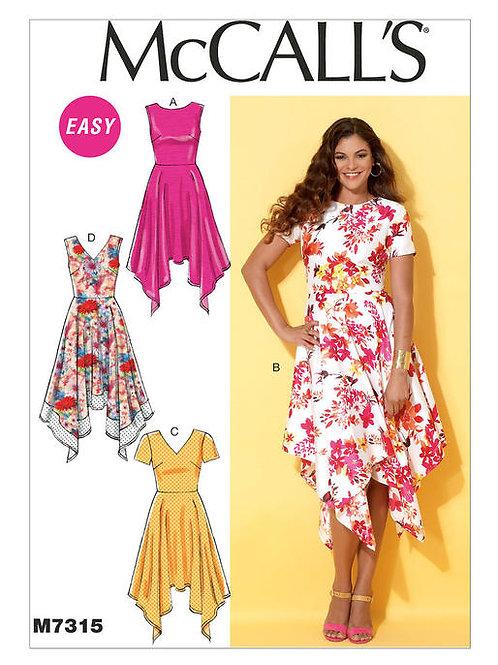McCall's 7315 Sommerkleid mit geformten Saum