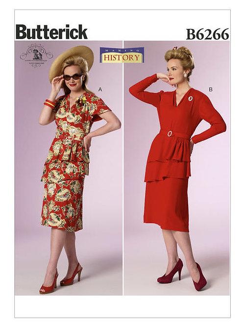 Butterick B6266 historisches Kleid