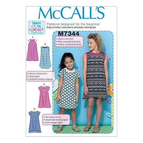 McCall`s M7344 Mädchen - Kleid