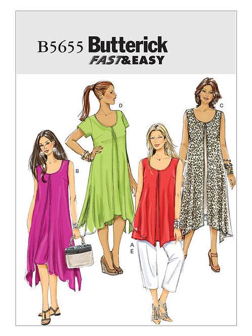 Butterick B5655 Kleid, Top & Hose