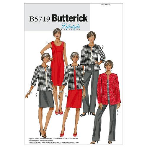 Butterick B5719 Jacke, Kleid, Rock & Hose